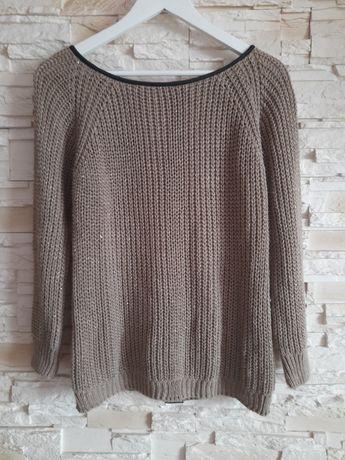 Sweter damski złota nitka