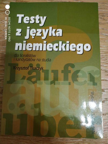 """Krzysztof Tkaczyk """"Testy z języka niemieckiego..."""""""