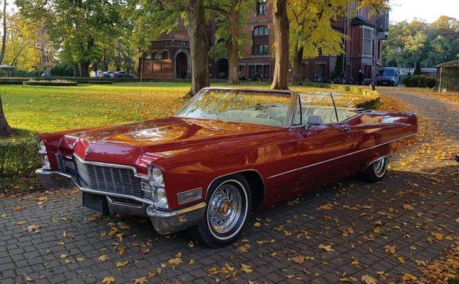 Auto do Ślubu lub na sesję zdjęciową Cadillac Deville Convertible 68