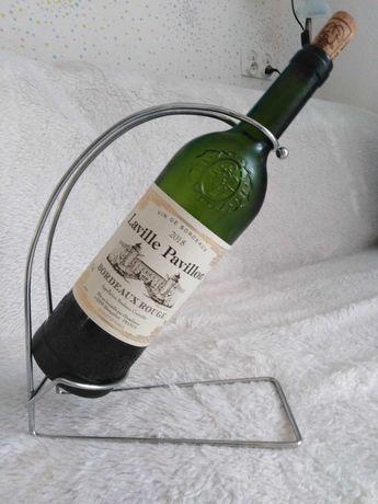 Stojak na wino na 1 butelkę metalowy