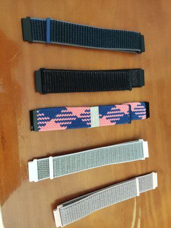Braceletes de Velcro para Smartwatch Samsung, Huawei, Amazfit e outros