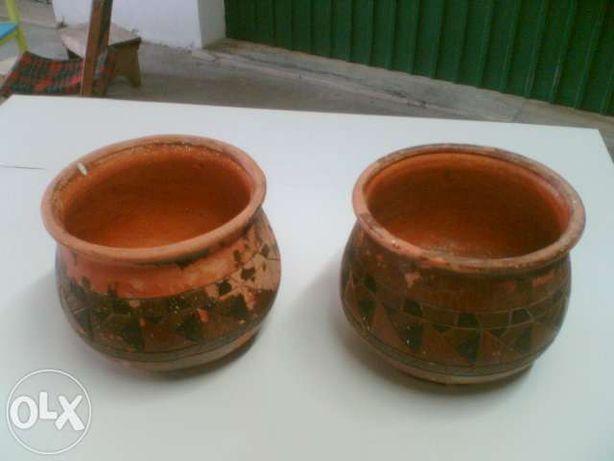 Vasos (10) - dois com flores