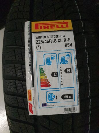 Nowe Opony zimowe - Pirelli SottoZero Serie 3 225/45 R18 95 V RUN FLAT