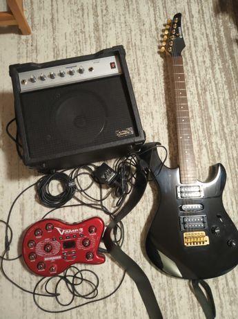 Gitara Elektryczna Yamaha ERG 121 UC2G, piecyk, multiefekt