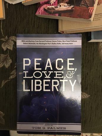 "Книга на английском ""Peace, Love & Liberty """