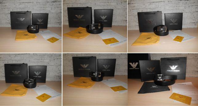Мужской Ремень пояс Armani, кожа, Италия, Оригинал 6 моделей