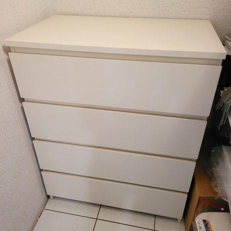 Komoda MALM ikea biała 4 szuflady
