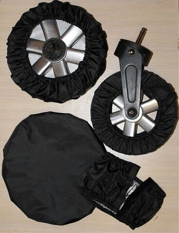 Чехлы (бахилы) на колеса детской коляски