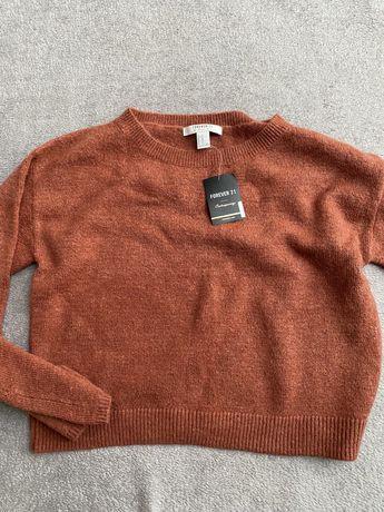 Nowy rudy sweterek rozmiar M