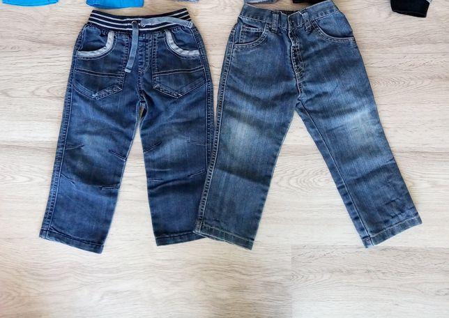 2x Spodnie chłopięce r. 92 jeansy
