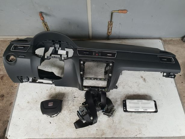 Seat Toledo IV Konsola Deska Airbag Pasy oryginał