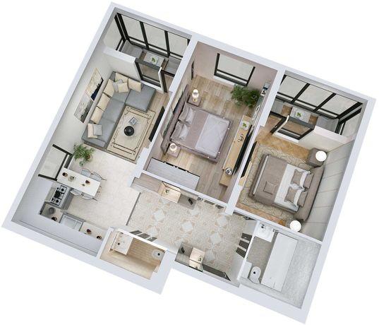 АКЦІЯ! 2 кімнатна квартира у новобудові 15 хв. до центру