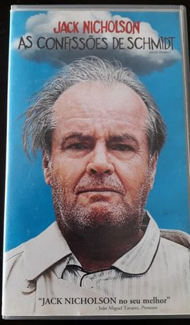 """VHS """"As Confissões de Schmidt"""" (Jack Nicholson) -"""