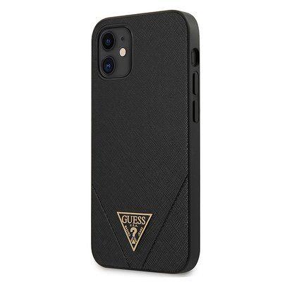 Capa Traseira Guess Saffiano Iphone 12 Mini - Preto