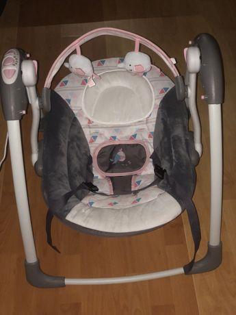 Детская качалка- шезлонг Mastela Серо-розовая