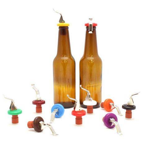 Tampas Flip Top adaptáveis a garrafas