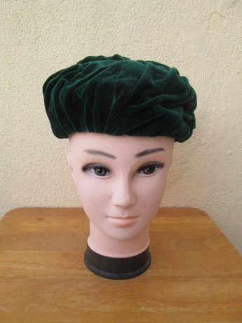 Turbante de Senhora em Veludo Verde - Anos 50