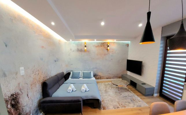 Apartament BLUE CASCADE luksusowe studioŚródmieście balkon parking BON
