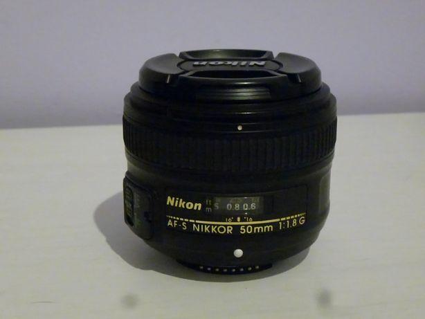 Obiektyw Nikkor 50mm 1.8g idealny stan