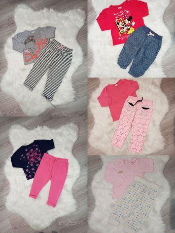 86 - 25szt paczka ubranek paka zestaw body, sukienka, legginsy, bluzka