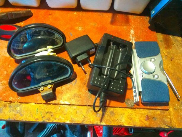 Зеркала мертвых зон,радиоприемник,зарядка батареек