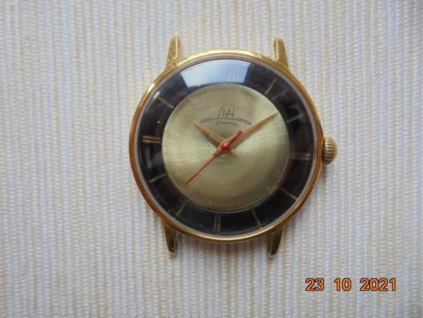 Łucz - radziecki, złocony Au10, ring, starszy logotyp