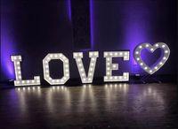 Podświetlany napis Love z Sercem litery wynajem, dowóz gratis