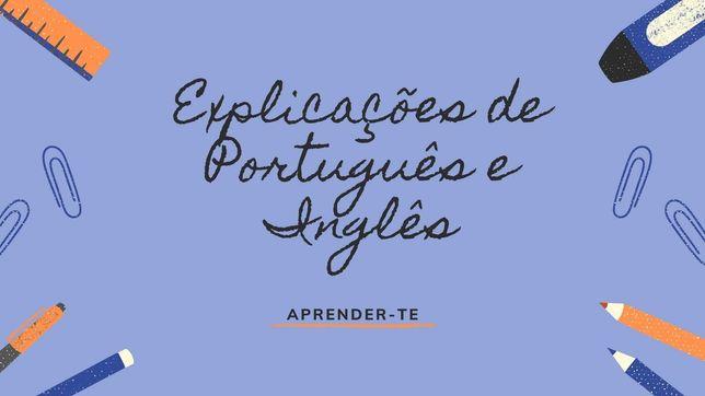 Explicações de Português e Inglês