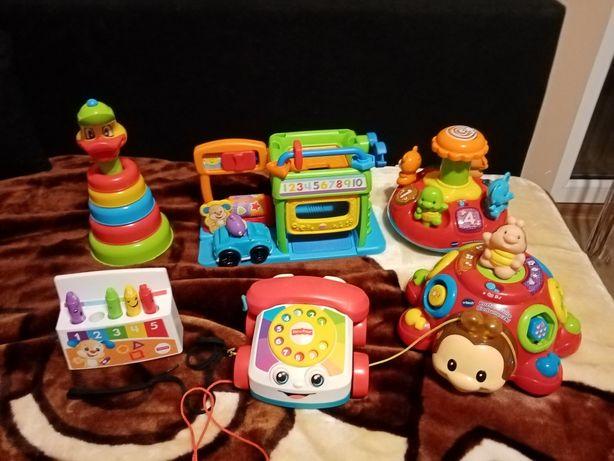 Zabawki interaktywne Fischer price, vtech i inne