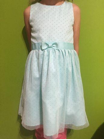 Sukienka seledynowo zielona Smyk 116cm