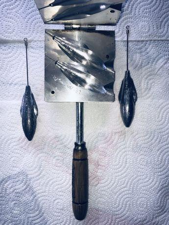 Molde para chumbadas, pesca