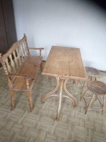 Stół+ ława +taborety