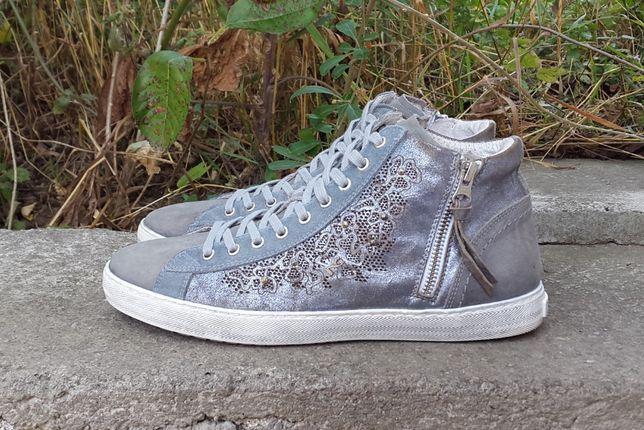 Кожаные кроссовки ботинки кеды Nero Giardini 41 р. Оригинал Италия