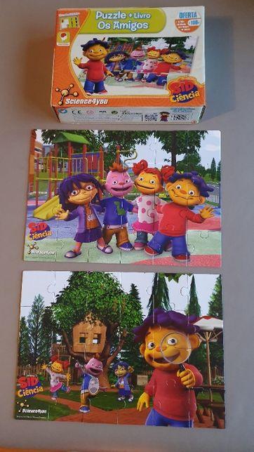 2 puzzles Sid Ciência (24 peças cada) + Livro de atividades (24 pág.)