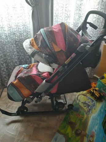 Ника детям 7-3 коляска санки цена снижена !