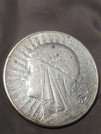 10 польских злотых Один фунт - Королева Елиз .2 и 50 польских злотых .