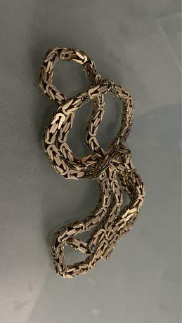 175zł/g 80,5g Próba 585 14k Nowy łańcuszek złoty splot królewski pełny
