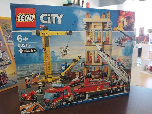 LEGO 60216 Brigada de incêndio no centro (NOVO e SELADO)