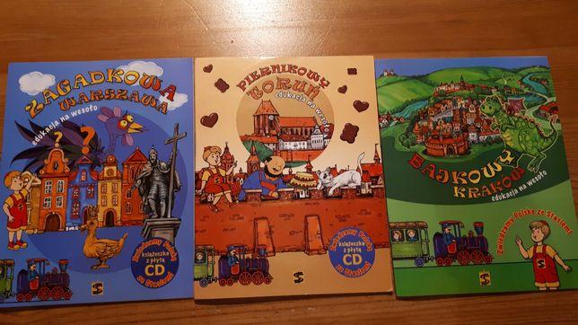 Zestaw 3 książek z serii zwiedzamy Polskę  CD