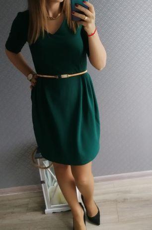 Sukienka Reserved butelkowa zieleń r. 34