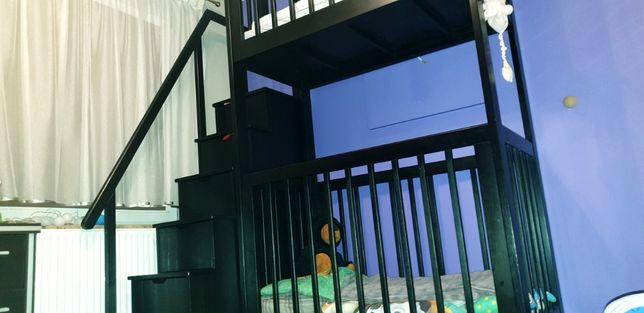 SOLIDNE drewniane łóżko piętrowe dla dzieci