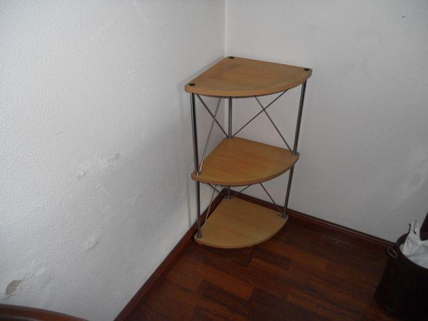 mesa de canto metálica/laminado