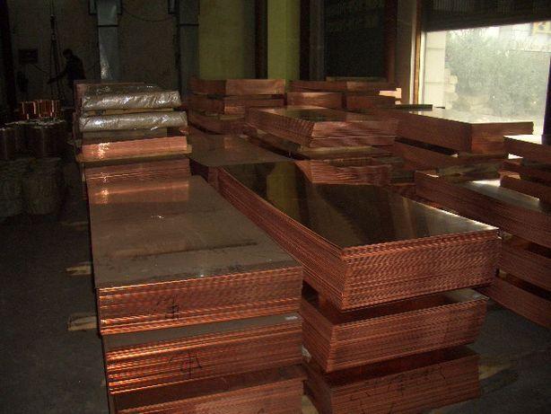 Лист медный, плита 0.8х600х1500 мм тв., мяг., п.тв, М1 М2 цена за 1 кг