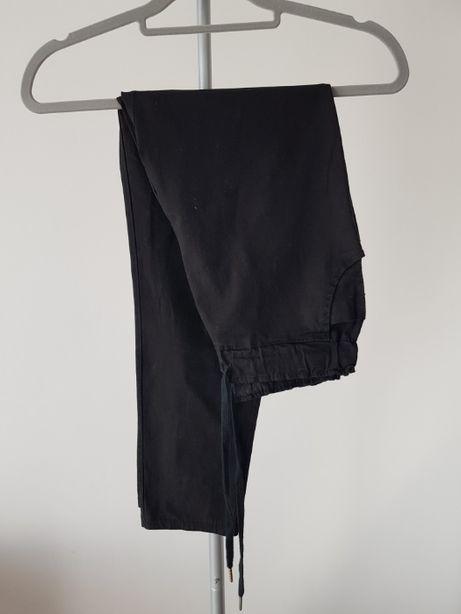 Nowe spodnie na gumce czarne wiązane
