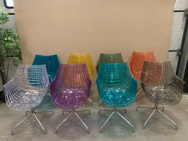 transparentny fotel krzesło