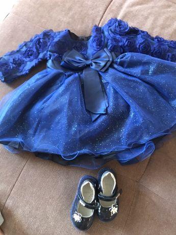 Красивое платье для девочки плюс туфельки