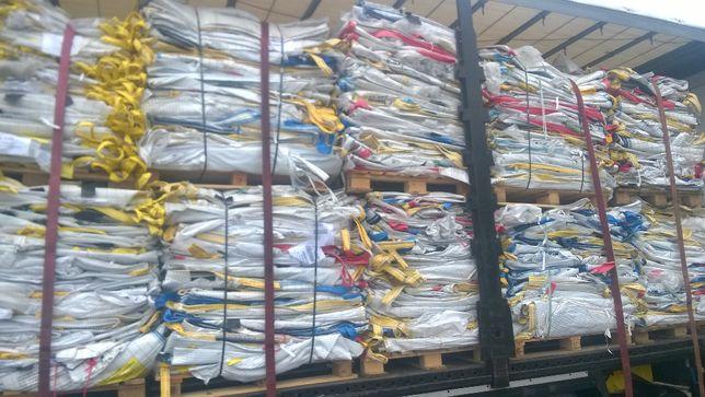 Worki big bag Uzywane 90/90/125cm do gruzu śmieci ziemi piasku 1000kg