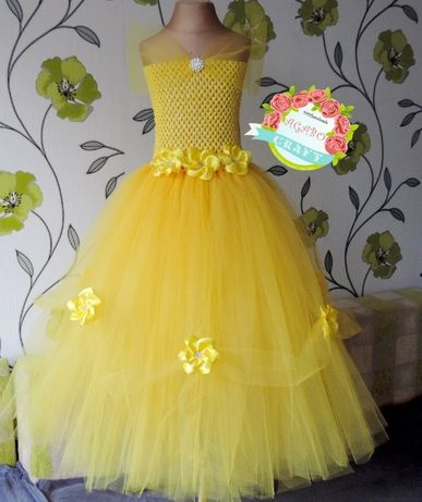 Suknia tiulowa tutu bal urodziny sesja Bella Piękna i Bestia