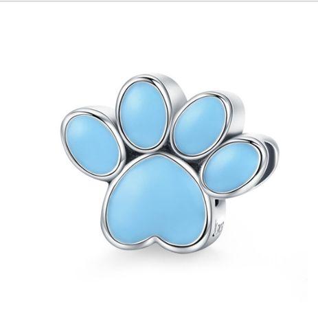 Charms PANDORA srebro 925 łapa pies przyjaciel niebieska emalia