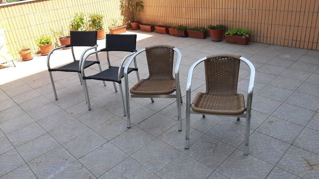 Cadeira de alumínio de exterior para jardim ou esplanada